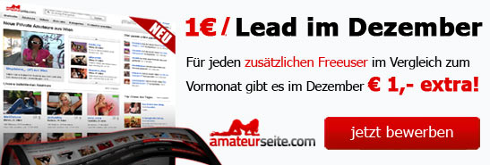 Amateurseite Leadaktion1 in Ab morgen: Lead-Provisionen für Amateurseite