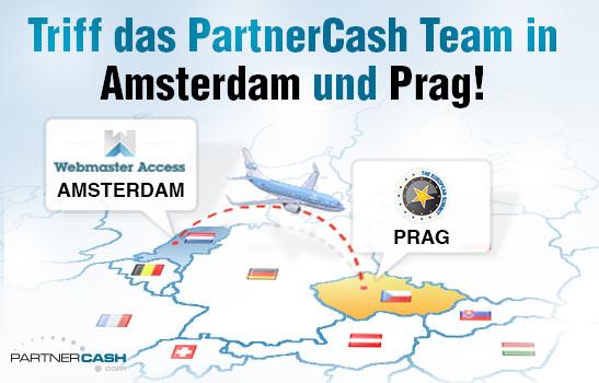 Triff uns in Amsterdam und Prag